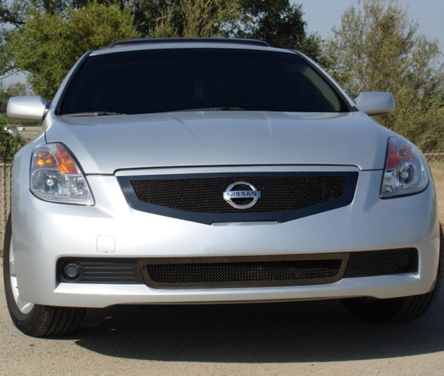 Altima Grille 08 09 Nissan Altima Coupe Mild Steel Powdercoat Black Upper Class Series T Rex Grilles