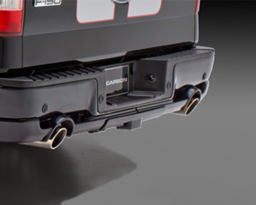 3dcarbon rear lower skirt trailer hitch cover dual exhaust ford f 150 06 08