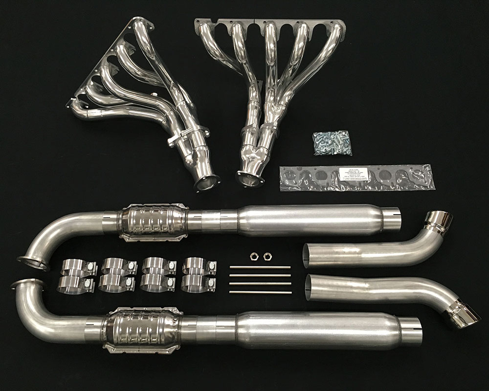 belanger headers and complete side pipe exhaust w cats dodge viper rt 10 roadster 92 02