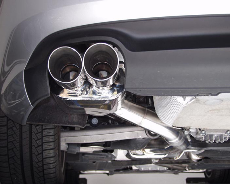 b b exhaust exhaust system with 3 5inch round tips audi a5 2 0t quattro 08 16