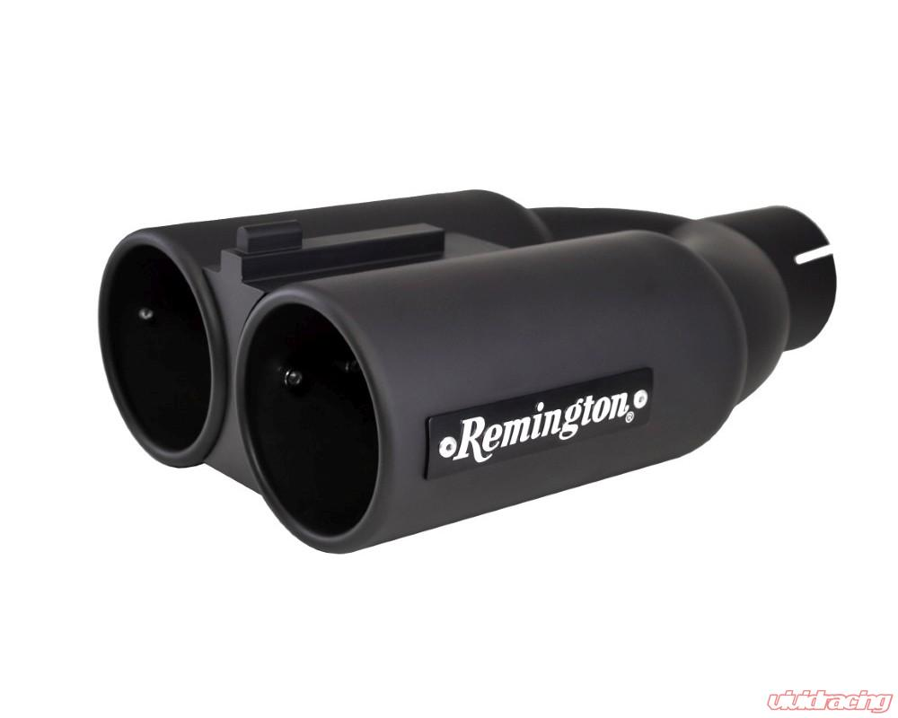 remington dual 3 inch inlet 4 inch outlet double barrel black exhaust tip double barrel