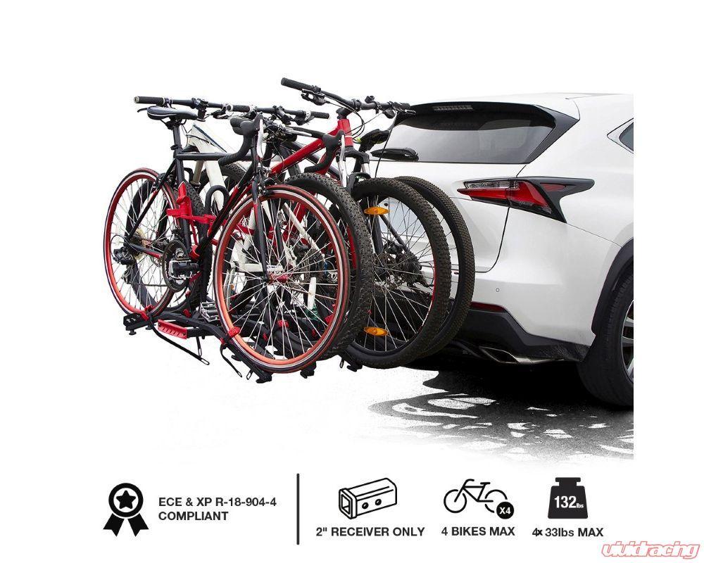 tyger auto hitch mounted platform 4 bike rack