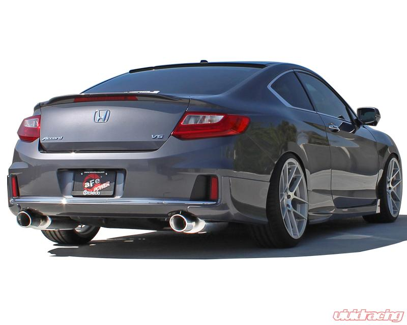 takeda usa stainless catback exhaust with polished tips honda accord coupe ex l v6 3 5l 13 14