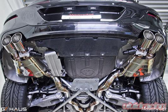 meisterschaft titanium gtc axle back muffler 4x90mm tips bmw 550i sedan f10 11