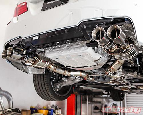 meisterschaft stainless gtc axle back muffler 4x102mm tips bmw m5 sedan f10 12 15