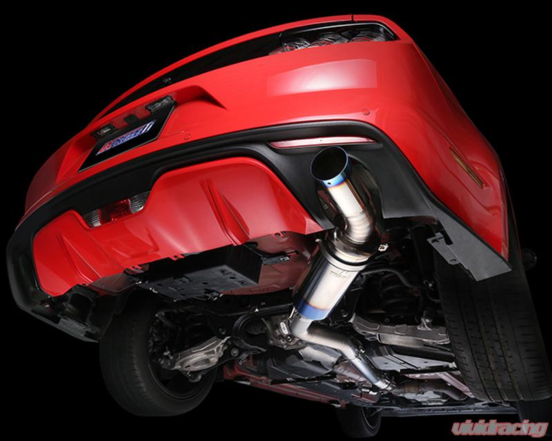 tomei full titanium catback exhaust system ford mustang ecoboost 2 3l 15 17