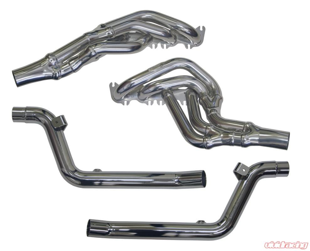 doug thorley long tube tri y headers with connector pipes ford mustang 5 0l coyote 2015 2021