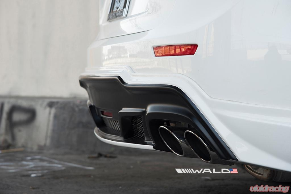 wald usa black bison edition rear half spoiler w exhaust tips maserati ghibli 14 17