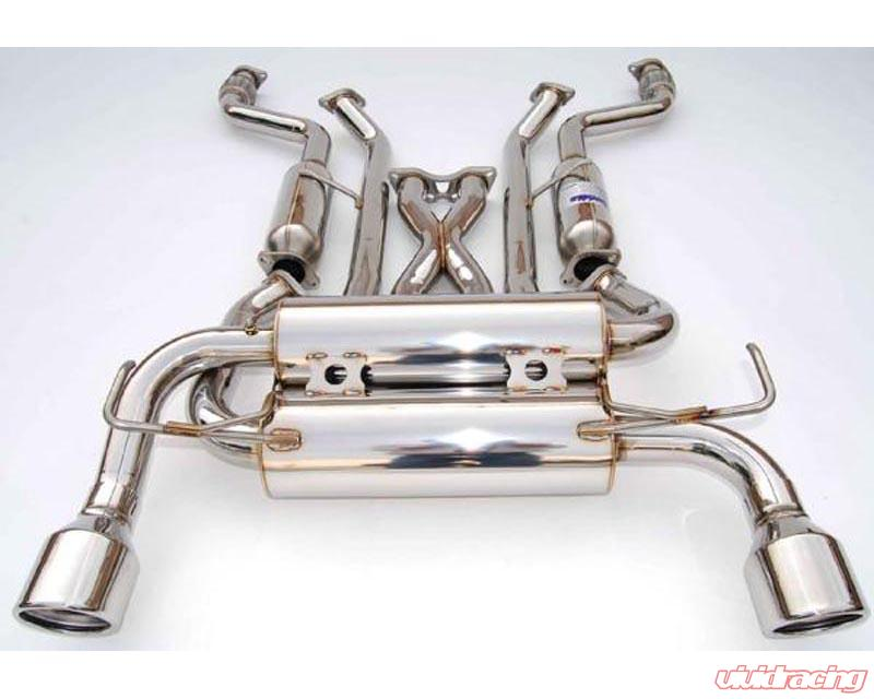 invidia gemini catback exhaust rolled stainless steel tips nissan 370z 2009 2014