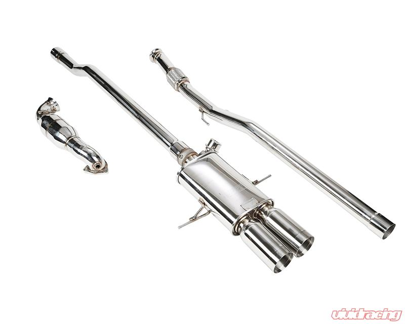 ipe stainless steel valvetronic exhaust system with remote and dual polished tips mini cooper s r56 r57 07 13