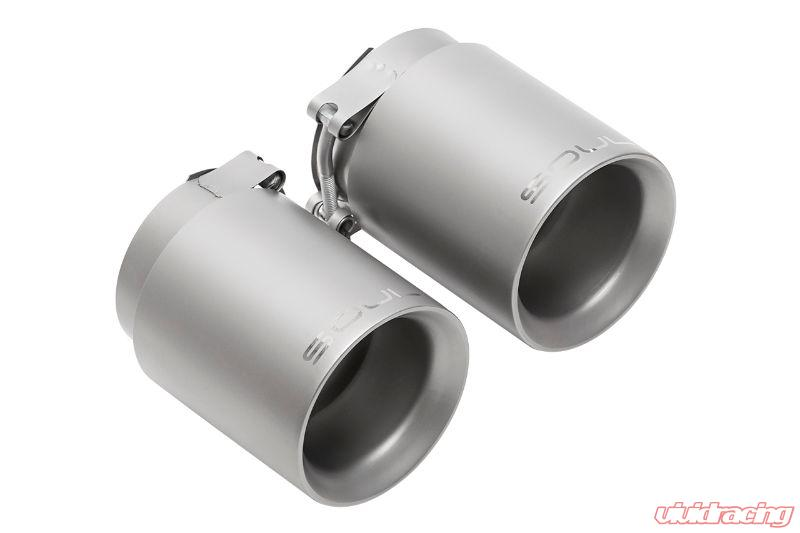 soul performance pse bolt on exhaust tips 3 5 inch deluxe double wall brushed tips porsche 991 2 carrera 17 19