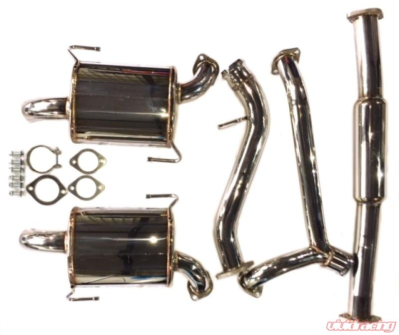 avo exhaust 3in stainless steel catback exhaust subaru outback xt 2005 2009