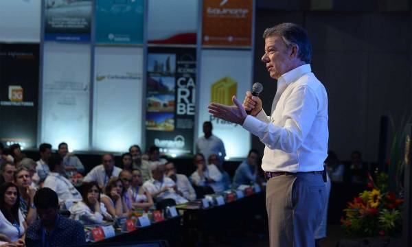 Sigamos construyendo esta Colombia maravillosa y reconciliémonos, fueron las palabras finales del Presidente Juan Manuel Santos en la clausura del Congreso de Camacol 2017.