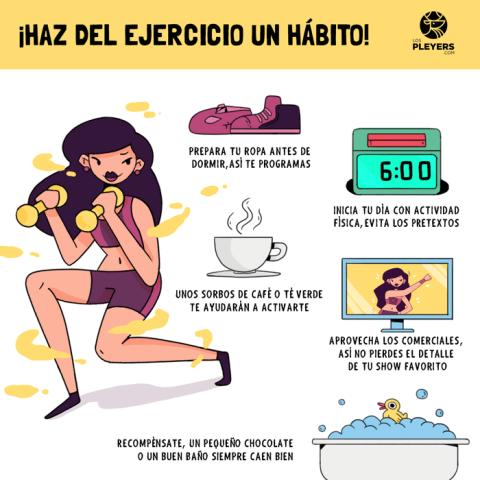 Haz ejercicio un habito