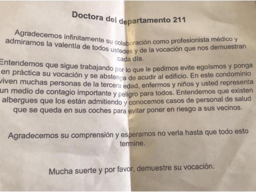 Amenaza a médico por covid