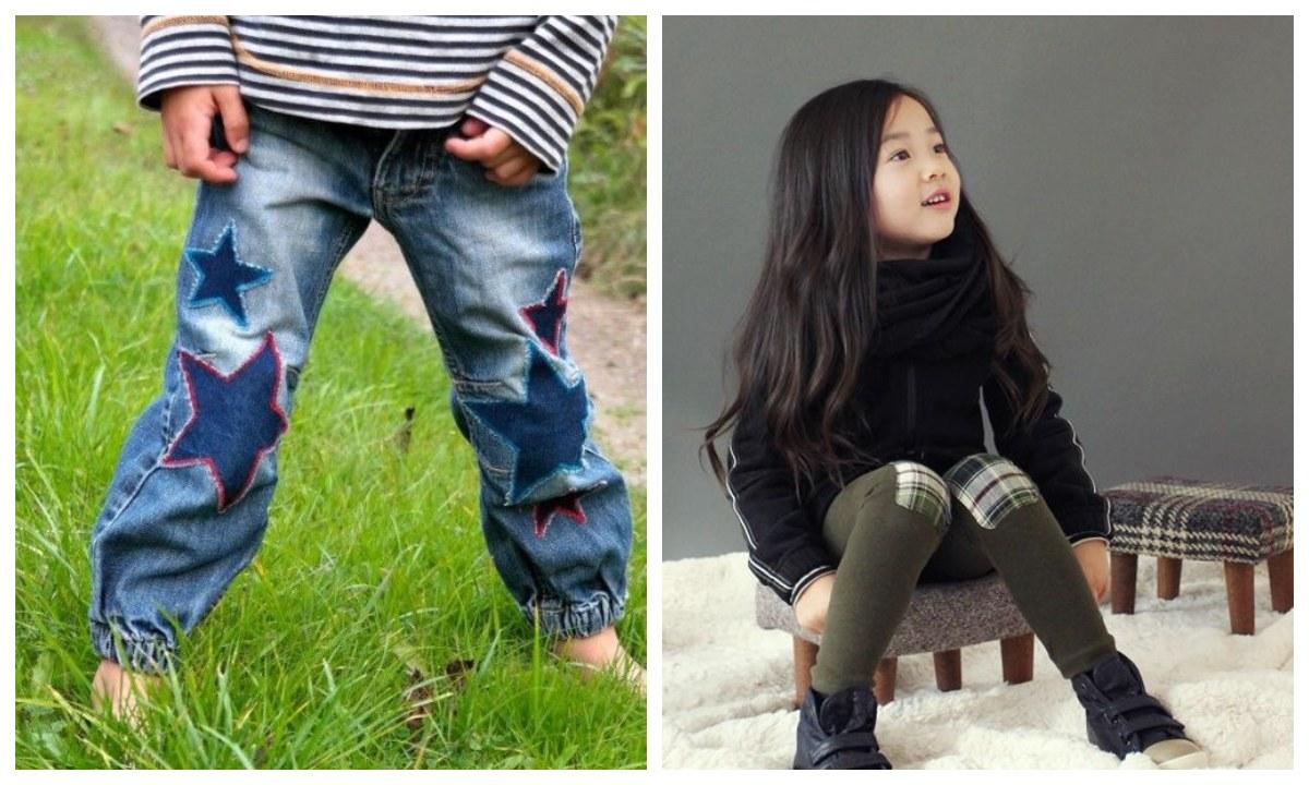 como arreglar hoyos en la ropa y pantalones de los niños
