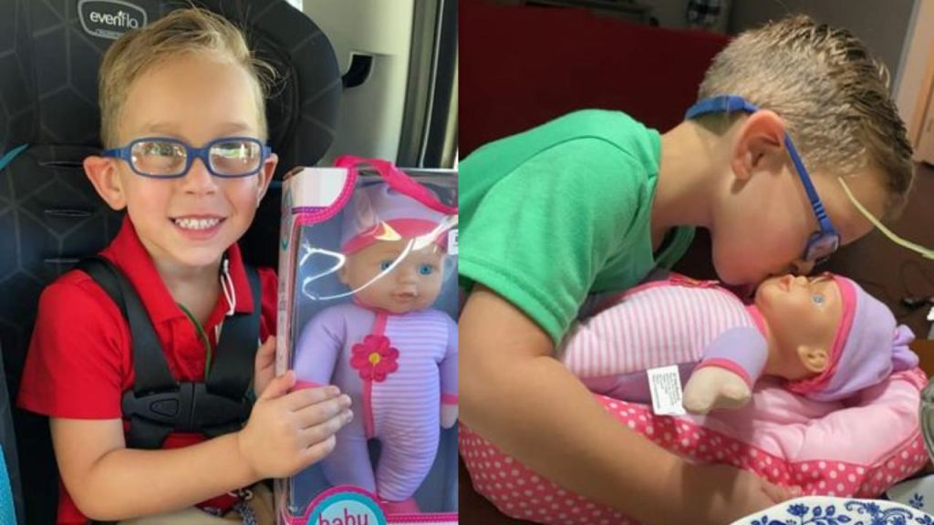 niño pide muñeca porque quiere ser el mejor papa
