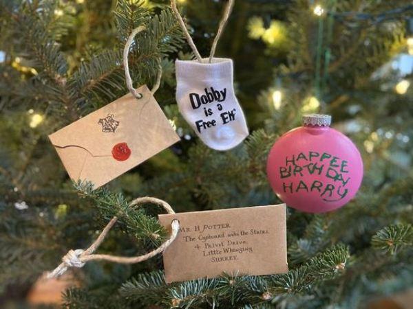 adornos para arbol de navidad de harry potter