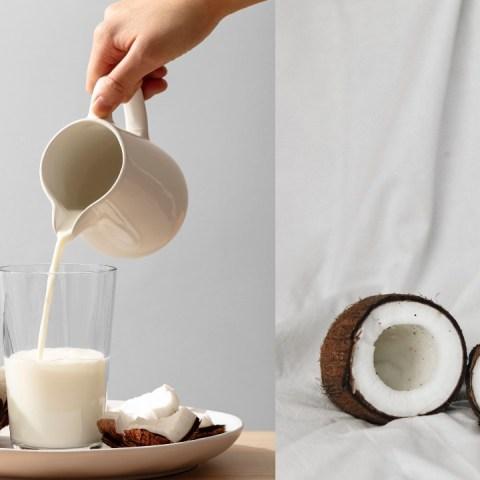 cómo hacer leche de coco casera