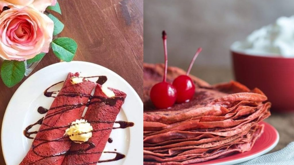 receta para preparar crepas red velvet