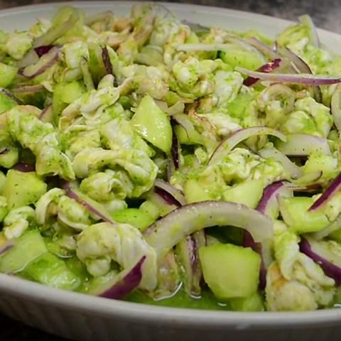 aguachile verde camarones receta