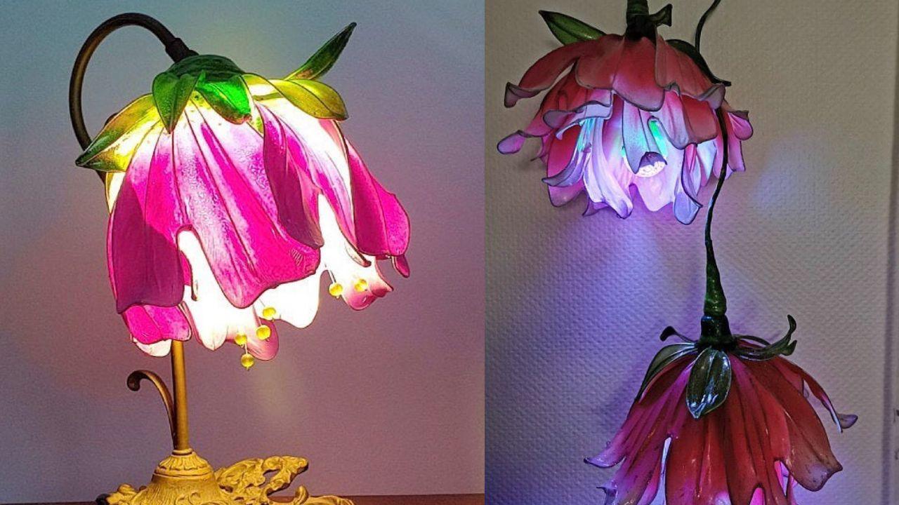 si quieres tener un hogar de cuento de hadas, te recomendamos estas lámparas de flores