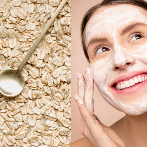 mascarilla para cerrar poros de avena y aceite de oliva