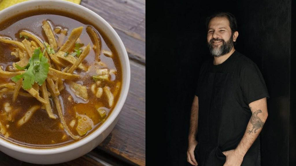 receta de sopa de tortilla del chef enrique olvera