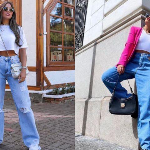 como usar jeans wide leg moda