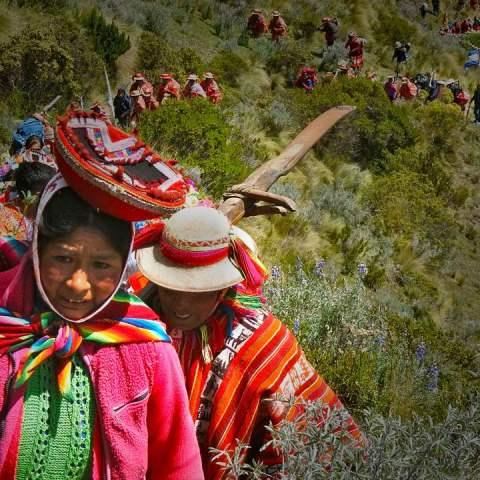 comunidades indígenas del Peru reforestando los Andes