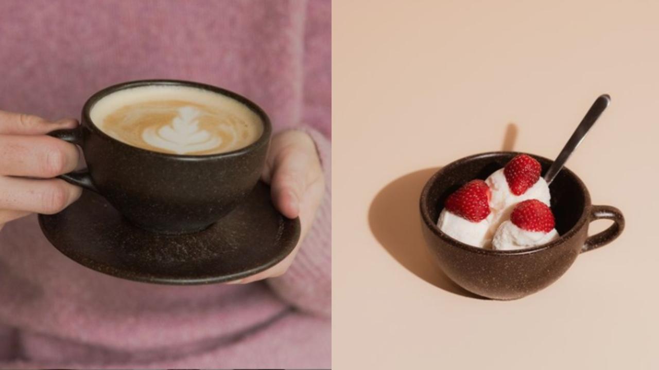 crean taza vasos residuos de café