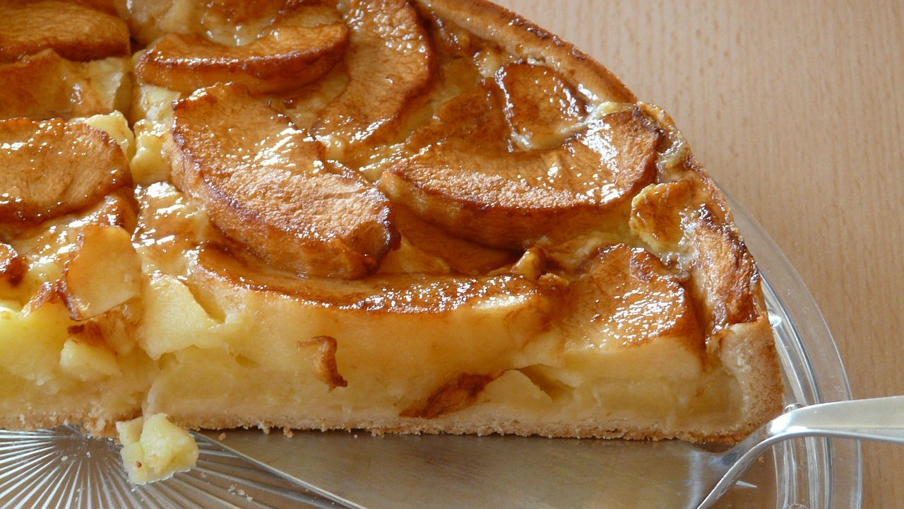 pie de manzana receta postre saludable como hacer