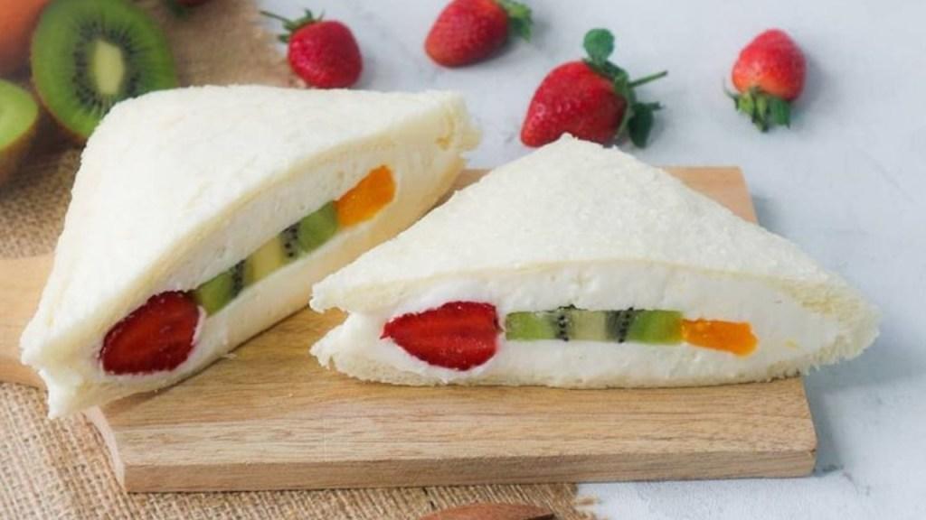 sandwich de frutas japones fruit sando preparacion