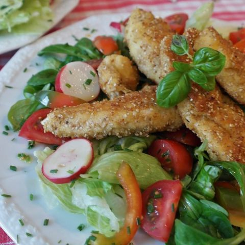 ensalada de pollo a la naranja agridulce receta como hacer