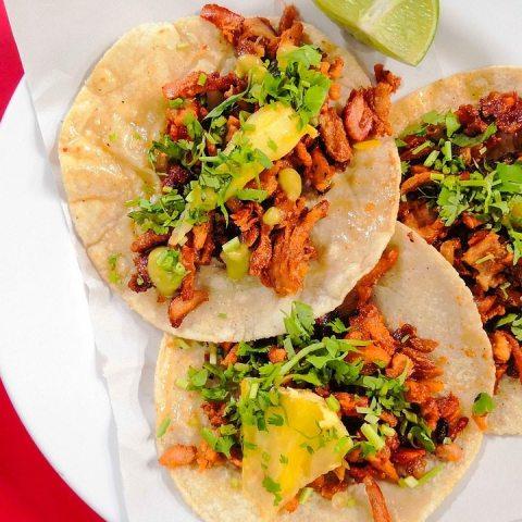 tacos de pastor con todo Alemania comida mexicana