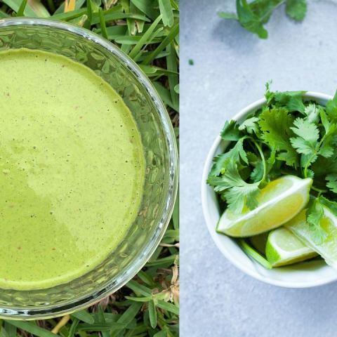 aderezo de cilantro receta como hacer