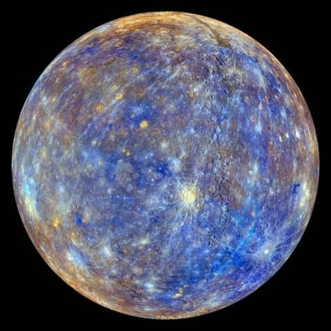 Mercurio planeta sistema solar apreciable a simple vista