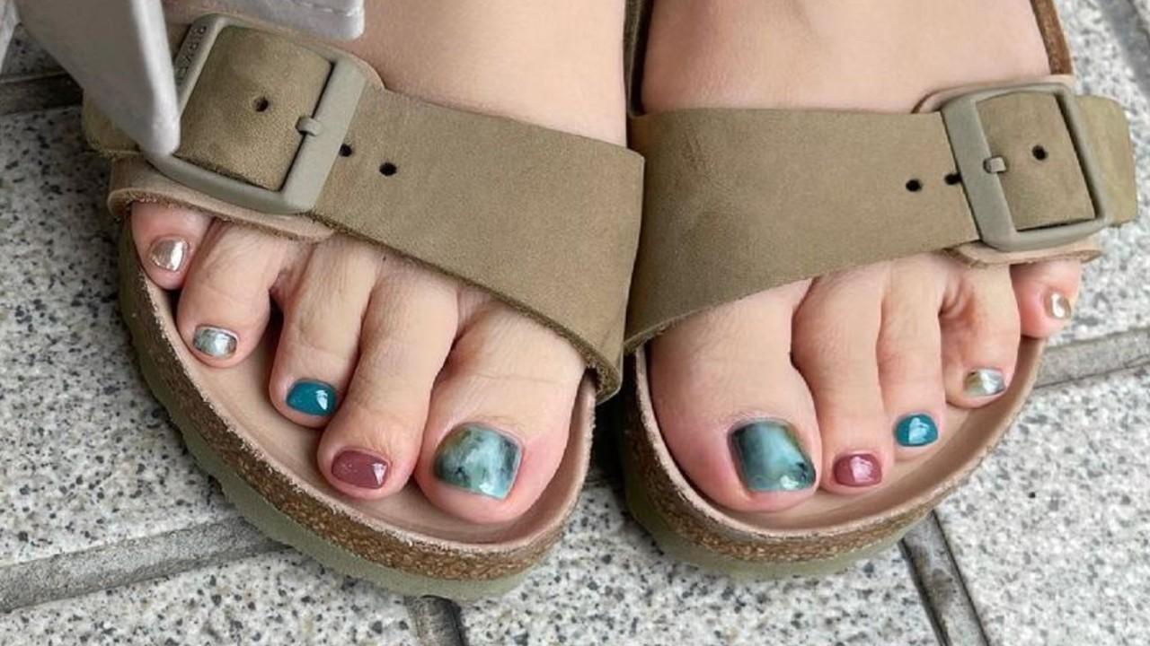 decorar las uñas de los pies diseños