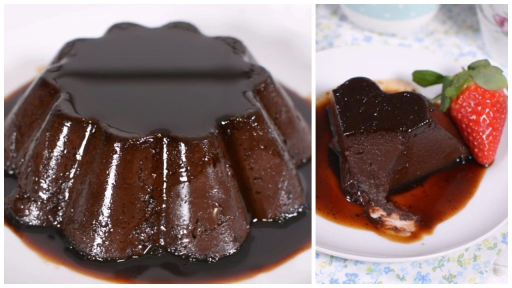 receta de flan de chocolate sin horno como hacer