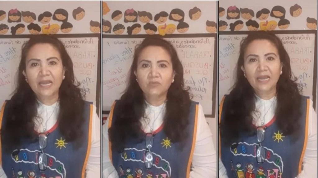 maestra rosy critica a alumnos que pasaron con seis