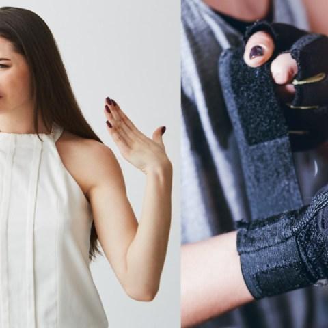 como quitar el olor de los guantes de gym