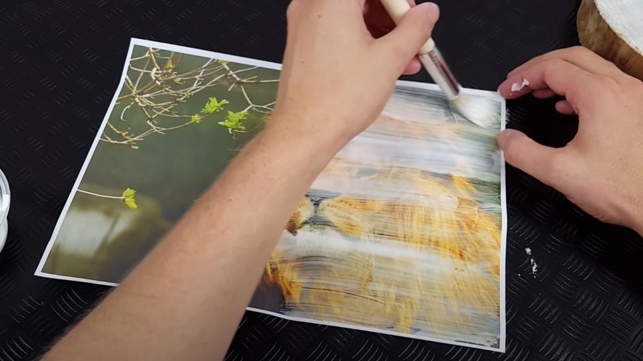 paso a paso para transferir fotos a madera