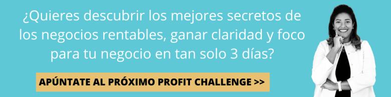profit challenge para emprendedoras