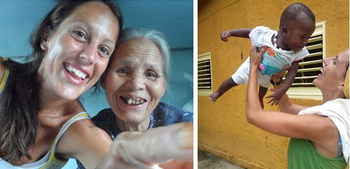 Mujer entrañable en un tren vietnamita - Voluntariado en un orfanato en Senegal