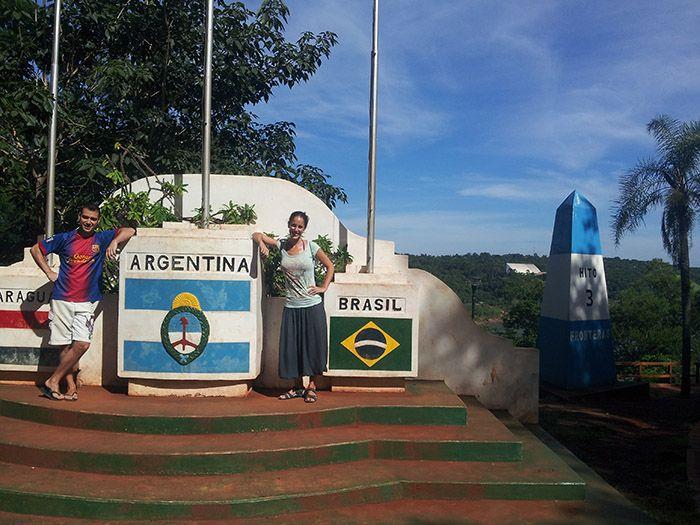 Punto des de dónde se pueden ver los tres países: Argentina, Paraguay y Brasil