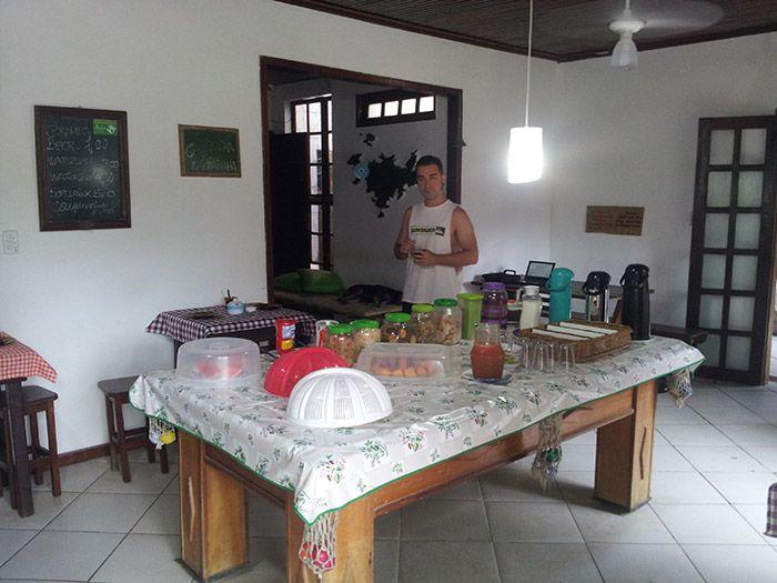 Buenísimo desayuno del hostel