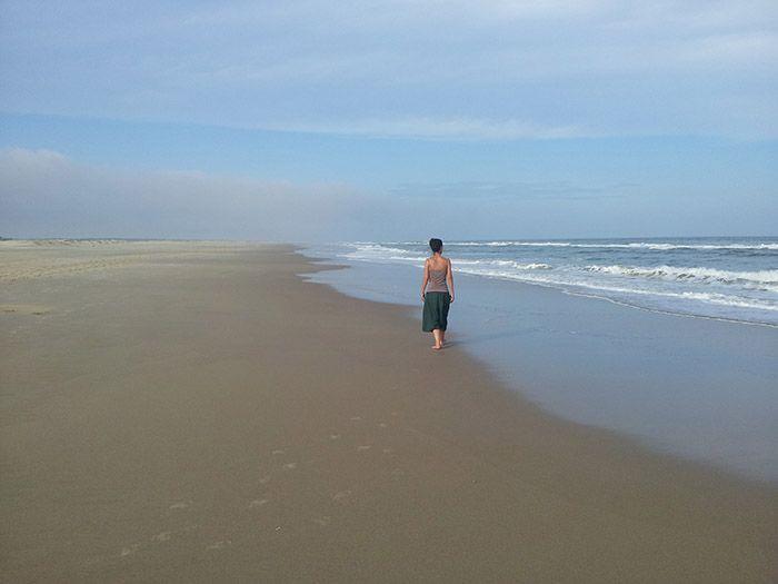Playa sin casas ni gente... ¡muy zen!