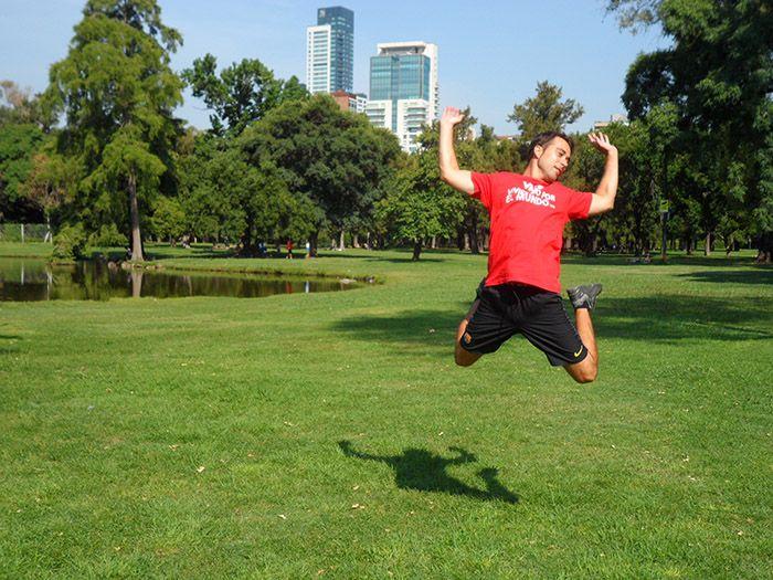 Ivan haciendo de las suyas en el parque