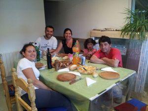 Foto de familia en la cena
