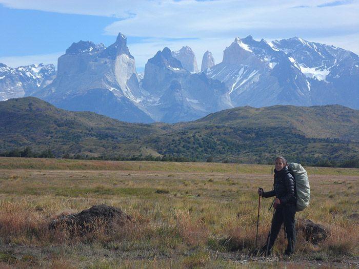 Última vista de Torres del Paine. Todas las montañas que habíamos recorrido parecían juntarse para despedirse de nosotros